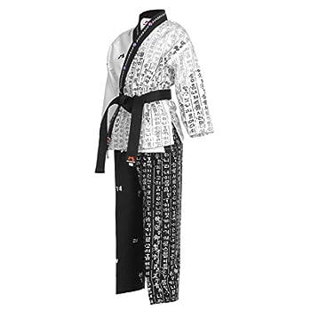 Mudoin Taekwondo Hangul Open Uniform TKD Martial Arts Akido Hapkido WTF POOM  170 160-170cm  5.24-5.57ft
