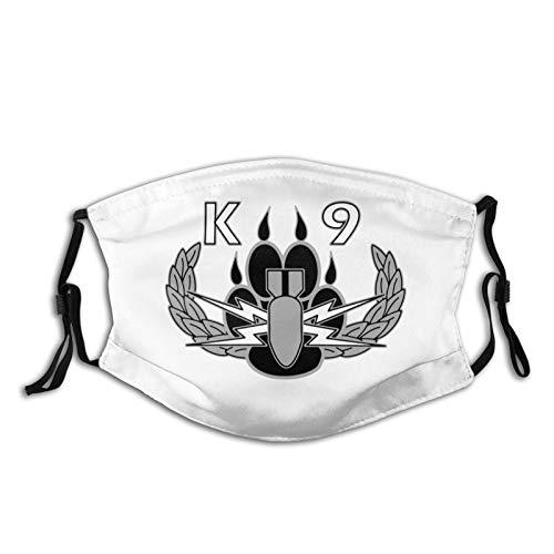 GYTIWBL Explosives Detection K9 Mask with Filter Dust Mask Adjustable Face Mask for Men Women