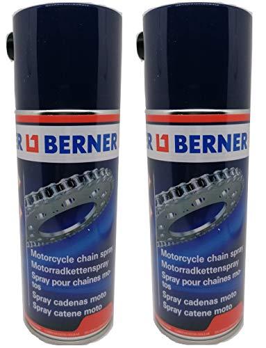 Tendaggimania - Grasa Spray para Cadena de Moto Transparente Berner 400 ml lubricante Limpiador. Paquete de 2 Unidades.