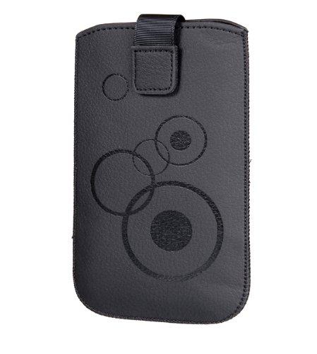 Handytasche Circle für Wiko Darknight Handy Tasche Schutz Hülle Slim Hülle Cover Etui schwarz (black) mit Motiv, inkl. Klettverschluss & Gürtelschlaufe (xx1)