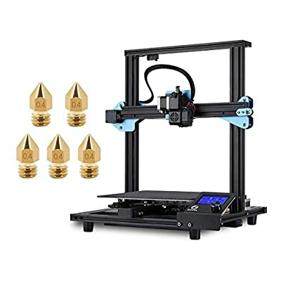Sovol Upgraded SV01 3D Printer 95% Pre-Assembled with 5 x 0.4mm Nozzle, Direct Drive Extruder Meanwell Power Supply and Glass Plate Built-in Thermal Runaway Protection 280x240x300mm
