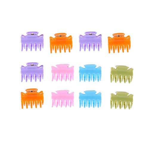 12pcs décoratif petite griffe de cheveux créatif cheveux grip Bang Clip mode mâchoire Clip pinces à cheveux barrette de cheveux accessoire de cheveux pour femme Kid