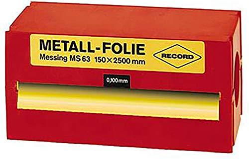 Metallfolie Stahl unleg. 150x2500x0,200mm Record