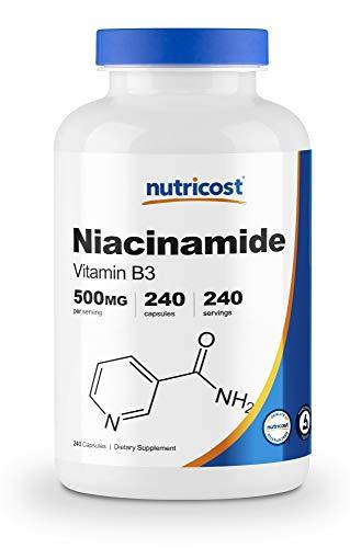 Nutricost Niacinamide (Vitamin B3) 500mg, 240 Capsules - Non-GMO, Gluten Free, Flush Free Vitamin B3