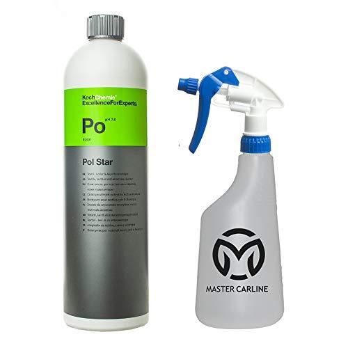 Koch Chemie Pol Star Allzweckreiniger Set für Leder und Textilreiniger - Polsterreiniger mit Master Carline Sprühflasche