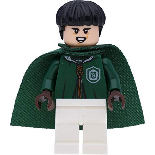 LEGO Harry Potter Minifigur: Marcus Flint in Quidditch Uniform (Slytherin) mit Umhang und Zauberstäben