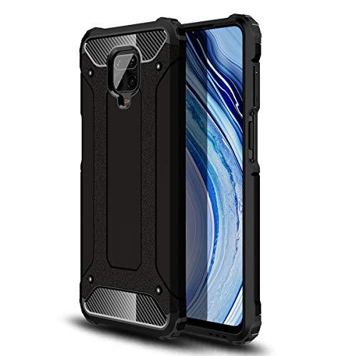 MOONCASE Funda para Redmi Note 9S, Redmi Note 9 Pro, Redmi Note 9 Pro MAX, Layer PC & TPU Military Grade Shockproof Cover for Xiaomi Redmi Note 9S - Negro