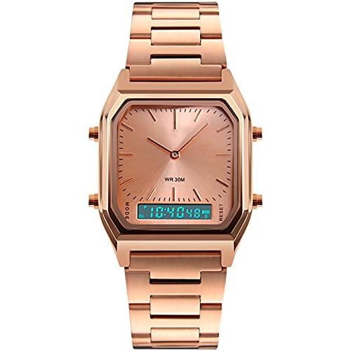 APCHY Reloj Deportivo Digital De Los Hombres,Mujeres LED Reloj De Pulsera De Cuarzo Grande con Zona Multi-Tiempo Cronómetro Impermeable para El Regalo De Cumpleaños,D