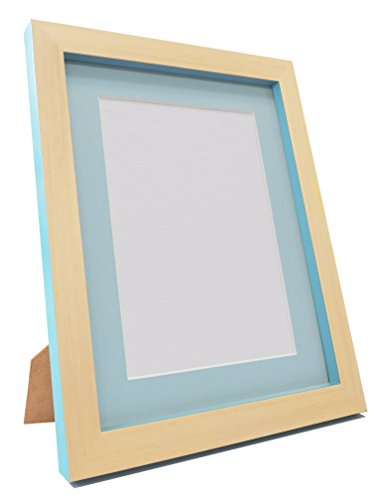 FRAMES BY POST MAGNUSBEETLBLUEWITHBLUMT20164030CM Cornice portafoto Magnus, Plastica Riciclata, Faggio/Teal Blu, 20 x 16-inch, Image Size 40 x 30 cm