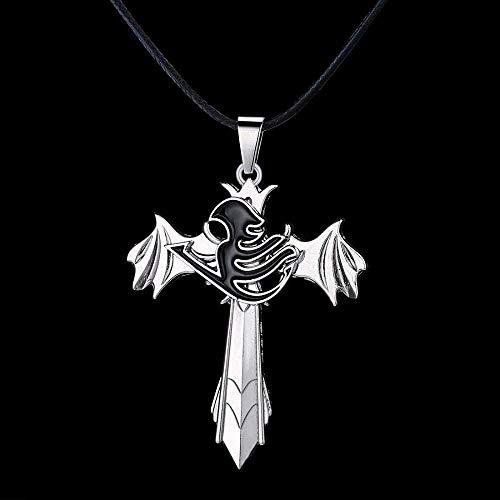 LBBYMX Co.,ltd Collar de Moda Fairy Tail Personalidad Espada alas Colgante Giratorio Collar Regalos de Calidad