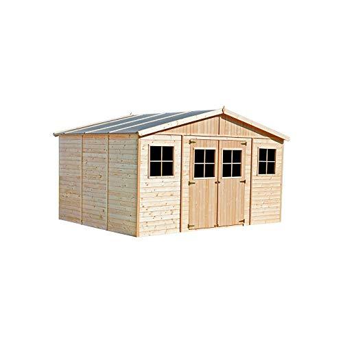 Generico - Caseta de madera 400 x 300 x 246 cm, madera de pi