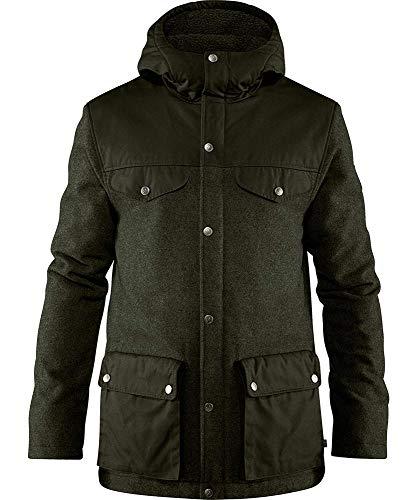 FJALLRAVEN Herren Greenland Re-Wool Jacket M, Dunkles Waldgrün, 2XL