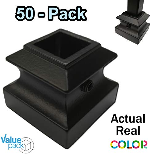Shoe for Iron Balusters (50-Pack) Stair Parts Flat Shoes with Set Screw for use with 1/2