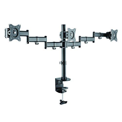 LogiLink BP0050 3-fach Monitor-Schreibtischständer 8 kg Belastung, 33,02-68,58 cm (13-27 Zoll) Schwarz