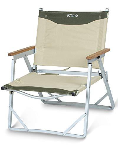 iClimb デッキチェア 一人掛け ローチェア リラックス フォールディングチェア ソファー 耐荷重120kg コンパクト 折りたたみチェア チェア ベンチ ビーチ 庭園 アウトドア キャンプ 用