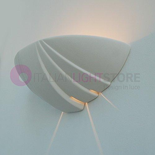 Applique Lampada A Parete Decorabile In Ceramica Colorabile Verniciabile- Linea Ceramica- Illuminazione Interni