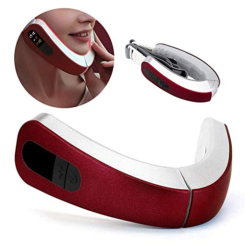 HEWYHAT Elektrisches V-förmiges Abnehmen Gesichtsmassagegerät LED-Photonentherapie Vibration Gesichtsmassage Heben Anti-Falten 4 Modi Beauty Machine