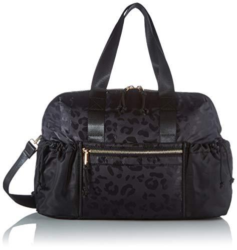 Pieces PCSILUNA Nylon Weekend Bag, Sac à l'épaule Femme, Black AOP : Leo, Taille Unique