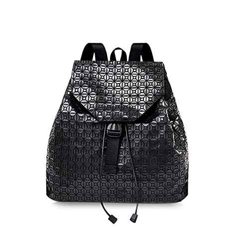 QIANJINGCQ Outdoor fashion cool rombo coulisse geometrica semplice studente zainetto uomini e donne con paillettes borsa femminile borsa da viaggio borsa zaino