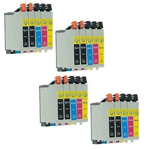 20 Druckerpatronen mit Chip mit freie Farbauswahl für Epson Stylus T0611XL T0612XL T0613XL T6014XL D68 D68PE D88 D88PE DX3800E DX3850 DX3850Plus DX4200 DX4250 DX4800 DX4850 DX4850 Plus
