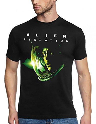 Coole-Fun-T-Shirts Alien Isolation Schwarz, T-Shirt, GR.M