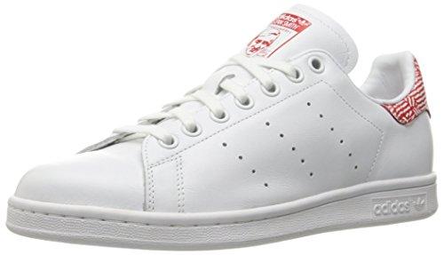 adidas Originals Women's Shoes Stan Smith Fashion Sneakers, Ftwr White/Ftwr White/Collegiate, 5 M US