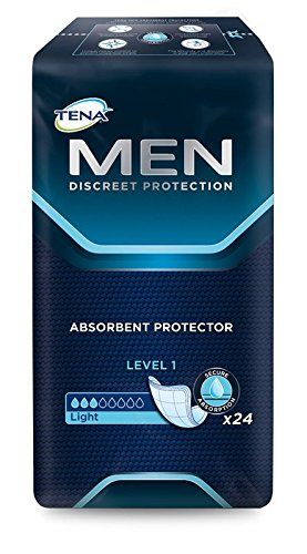 Tena Men Level 1, bei leichter Blasenschwäche, dünner und sicherer Schutz, 6 x 24 Stück (144 Vorlagen)