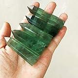 LANTIANXIAN Natürlicher Fluorit Kristall Natürliche Fluoritkristall Säule Ornament Hexagonal...