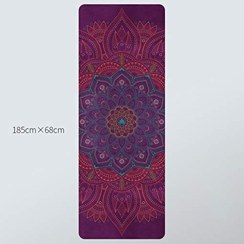 LXFMD Natuurlijke rubber yoga mat vrouwelijke professionele fitness mat anti-slip verdikking verbreding vouwen yoga handdoek deken