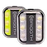 BRIGGTH led running lights for runners, safety light for walking at night, hat clip on flashlight for jogging, dog collar light, backpack reflector, bike cap bicycle reflective running gear light 2pcs