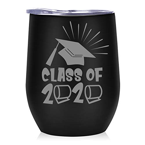 Onebttl Abschluss Geschenk 2020 - Weinbecher, Geschenkidee für Bachelor Master Abitur, Bestandene Prüfung Geschenk, Graduation Gift, PhD Geschenk