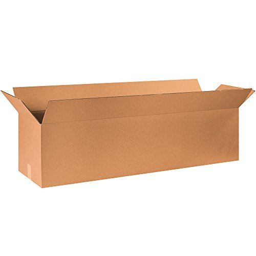 BOX USA B481212 Long Corrugated Boxes, 48'L x 12'W x 12'H, Kraft (Pack of 10)