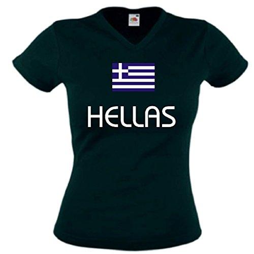 Fruit of the Loom Hellas/Griechenland Damen T-Shirt WM 2014 Trikot s-l