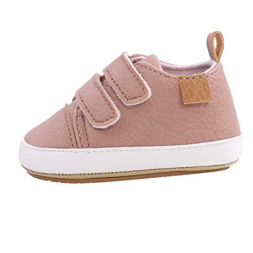 Ywlink Zapatillas con Velcro En Color Liso,Zapatos Oxford con Cordones,Zapatos De Piel SintéTica con Cordones Antideslizantes Suela De Goma Suave para NiñOs Y NiñAs
