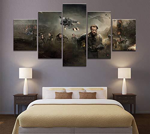 Modern Avengers Infinity War 5 Panel Movie Poster dipinti decorativi su tela Wall Art per decorazioni per pareti di casa Decor(size 3)