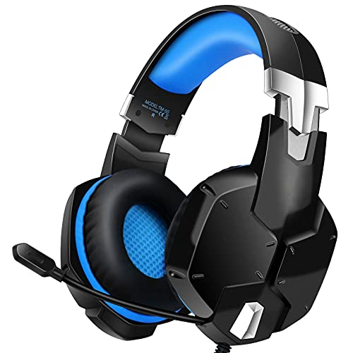 Auriculares Gaming PS4, Cascos Gaming con Micrófono, 3D Sonido y Reducción de Ruido, Jack 3,5mm, Control de Radio, PC/Mac/Xbox One/Nintendo Switch