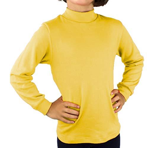 KLOTTZ - Camiseta Carnaval Manga Larga niños Fabio Halloween. Polo Cuello semicisne e Interior Afelpado. Niñas Color: Amarillo Talla: 4
