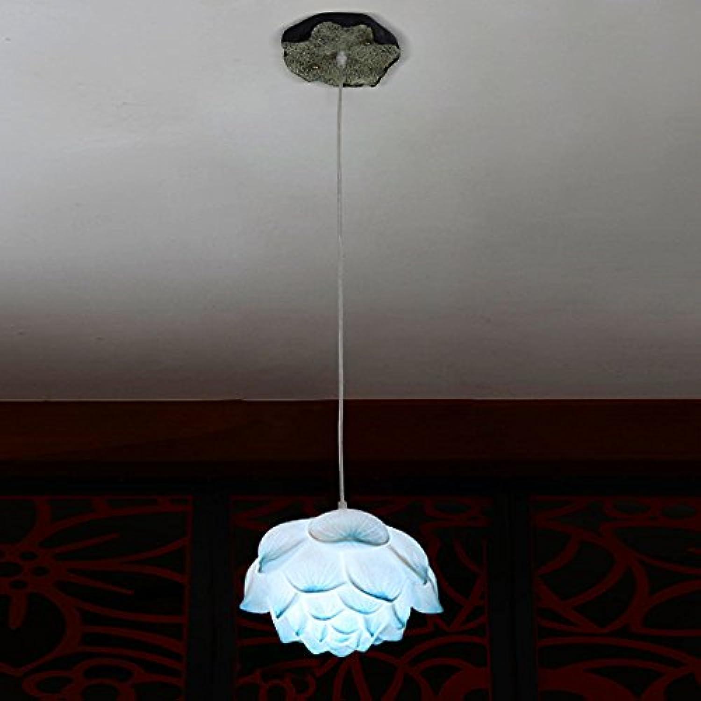 Vintage Lotus Deckenleuchte Moderne minimalistisch einstellbare Harz Kronleuchter single-headed Schlafzimmer Wohnzimmer Lotus Blatt Pendelleuchte (design   6)