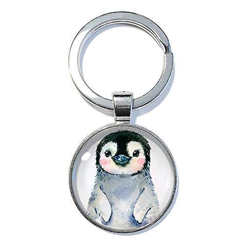 Pinguin ABOUKI Geschenk-Idee Geburtstag Weihnachten für Sie Frau Freundin Mädchen Glücksbringer Taschenanhänger handgefertigt Schlüsselanhänger 25mm