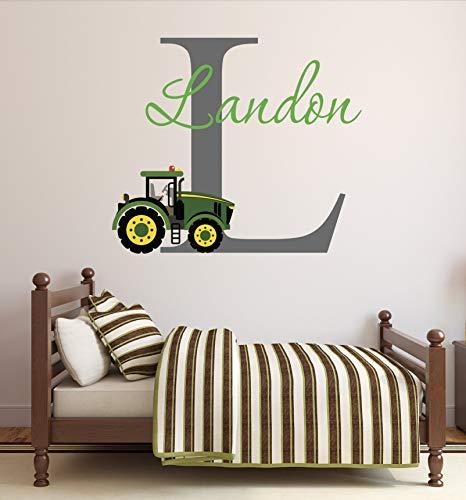 Adhesivo decorativo para pared con nombre de camión de granja para niños, cuarto de bebé, vinilo decorativo, 96,2 cm de ancho