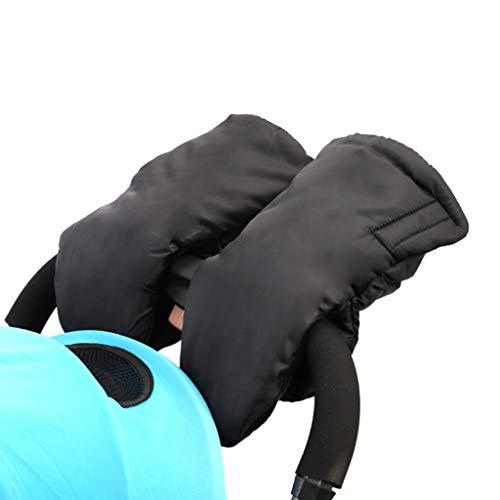 Gjyia wasserdichte Kinderwagen Handwärmer Muff Winddicht Plüsch Warm Gefütterte Handschuhe