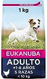 Eukanuba 1 kg, contiene todas las vitaminas necesarias, pelo brilloso y sano, sabor pollo