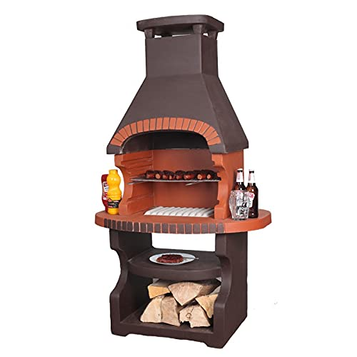 K2 Brown Masonry BBQ Garden Outdoor Charcoal Grill
