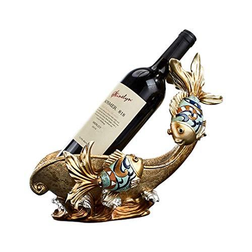 NYKK Ornamento de Escritorio Titular de Mesa Vino de Alta Gama de Materiales de Resina Estatua Regalo Crafts Perfecto for la decoración casera y la decoración de la Cocina artesanías decoración