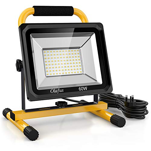 Olafus 60W LED Work Light 6000LM, 2 Brightness Modes, IP65...