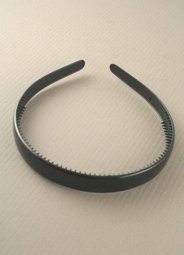 aliceband - schlicht schwarz Breite (1,5 cm) Kopfband Haarreif