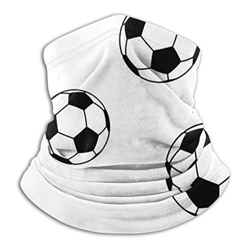 N/A Kids Balaclavas Hoed Winddicht Gezichtsmasker Wit Blackoccer Voetbal Patroon
