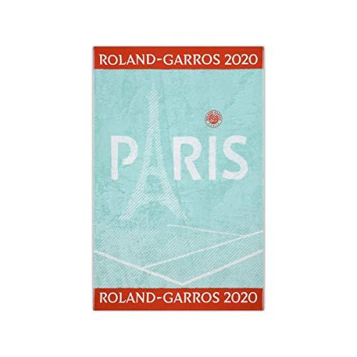 ROLAND GARROS CSVU0220-CEL Toalla Oficial Juvenil 2020-Azul Celadon-Algodón Unisex Adulto 70x105 cm