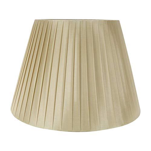 DULEE Pantalla de lámpara de mesa con tornillo E27, de 18 pulgadas, para lámpara de mesa, (parte superior) 28 cm x (altura) 30 cm x (inferior) 45 cm, color champán