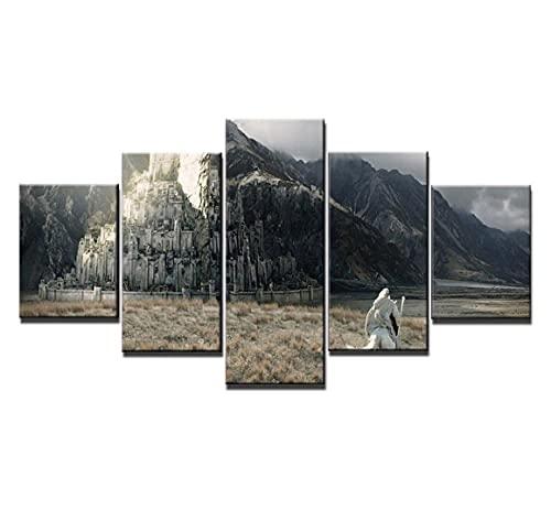 GLNB Cuadros Paneles Lienzo murales Impresión 25 Piezas Material TejidonoTejido Señor del Anillo Impresión Artística Imagen GráficaDecoracion ParedWall StickerPaintings